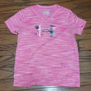 Under Armour- girls Heat Gear loose fit top